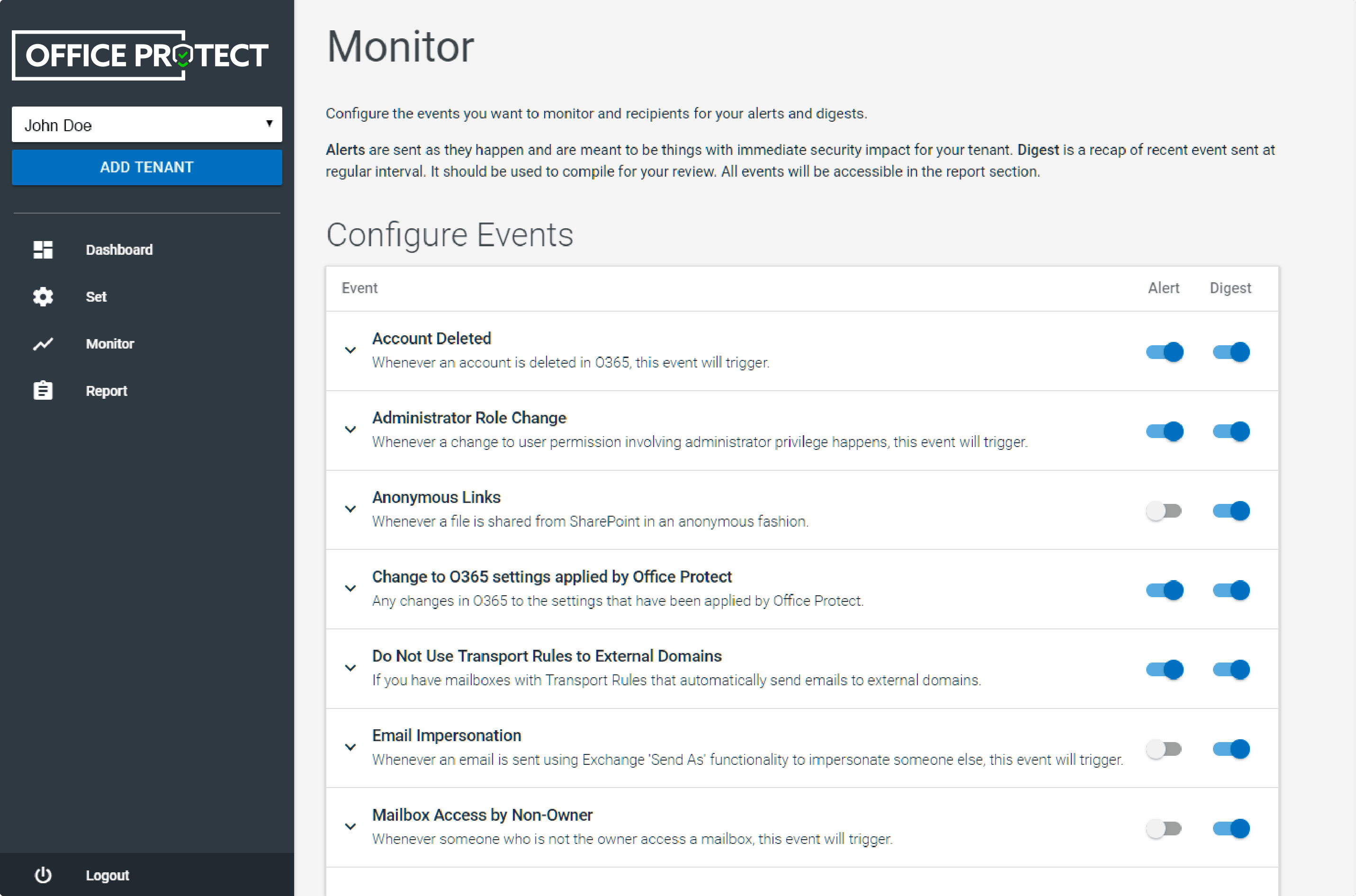 Office Protect: Monitoring & Alerts